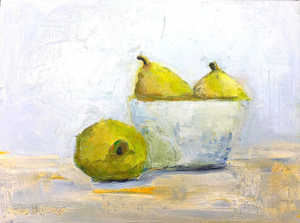 3 Pears and Bowl