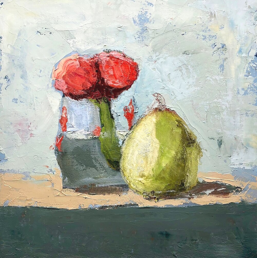 tulips and pear,2018