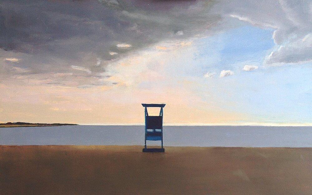 """Loop Beach, 30""""x48"""", oil on canvas, 2015-2017"""