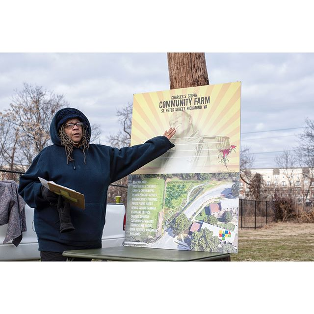 1/15/18 was the sign unveiling of the new Charles S. Gilpin Community Farm on St. Peter Street Richmond, VA. This project is spearheaded by our own Lillie A. Estes and also came to life with much help from out community members Dr. Ram Bhagat, Victoria Campbell Chief of Police Alfred Durham, Adria Scharf, Burt Pinnock, Ryan Rinn, Monica Chambers, Jenise Brown, Lacette Cross, Brittany Bush, Alysia CW, Donna Joyce.  #rva #richmondva #charlessgilpin #charlessgilpincommunitygarden #community #communitygarden #rvadaily #rvamag #styleweekly #richmondtimesdispatch #richmondfreepress #cjfs #communityjustice #eyeneyevisions