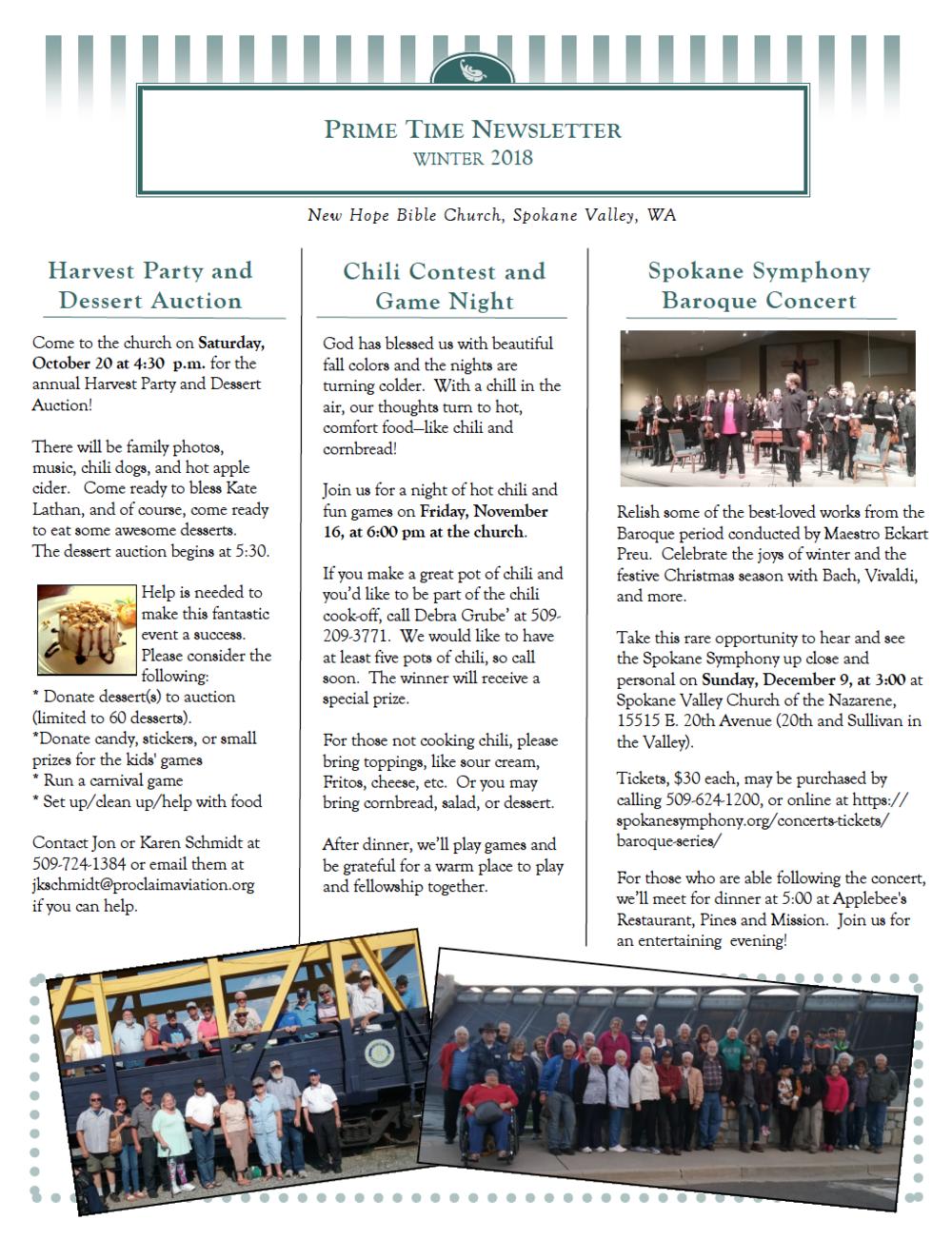 Winter 2018/19 Newsletter