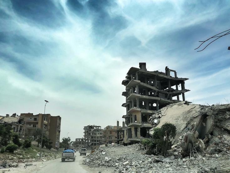 Raqqa destruction