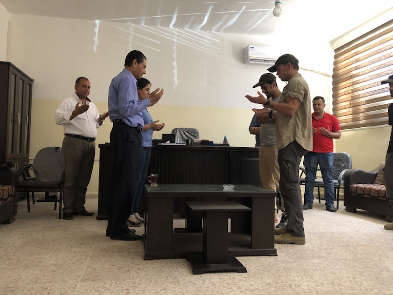 Praying with Raqqa City Council members