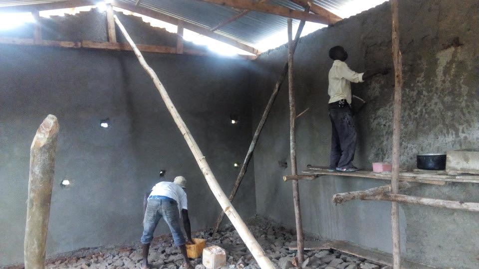 Work inside the chapel.