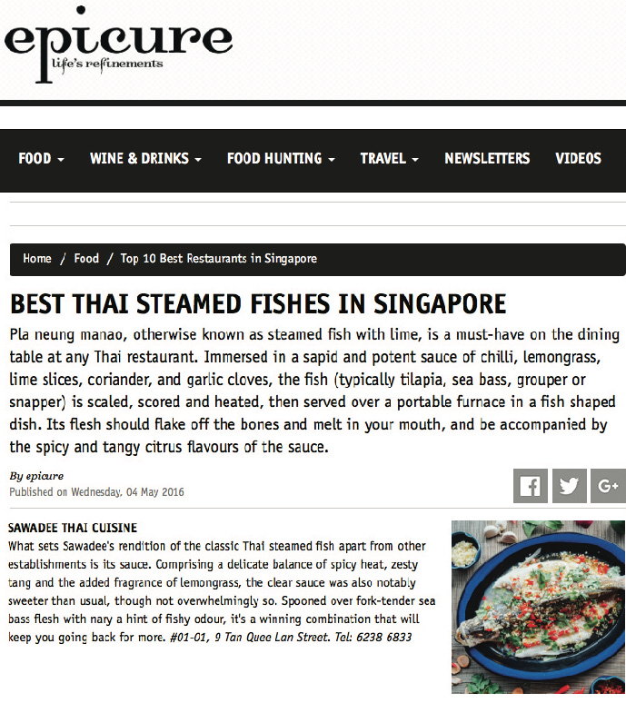 Epicure Magazine, 04 May 2016