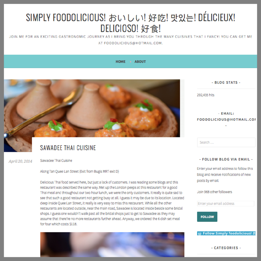 Foodolicious, 20 April 2014