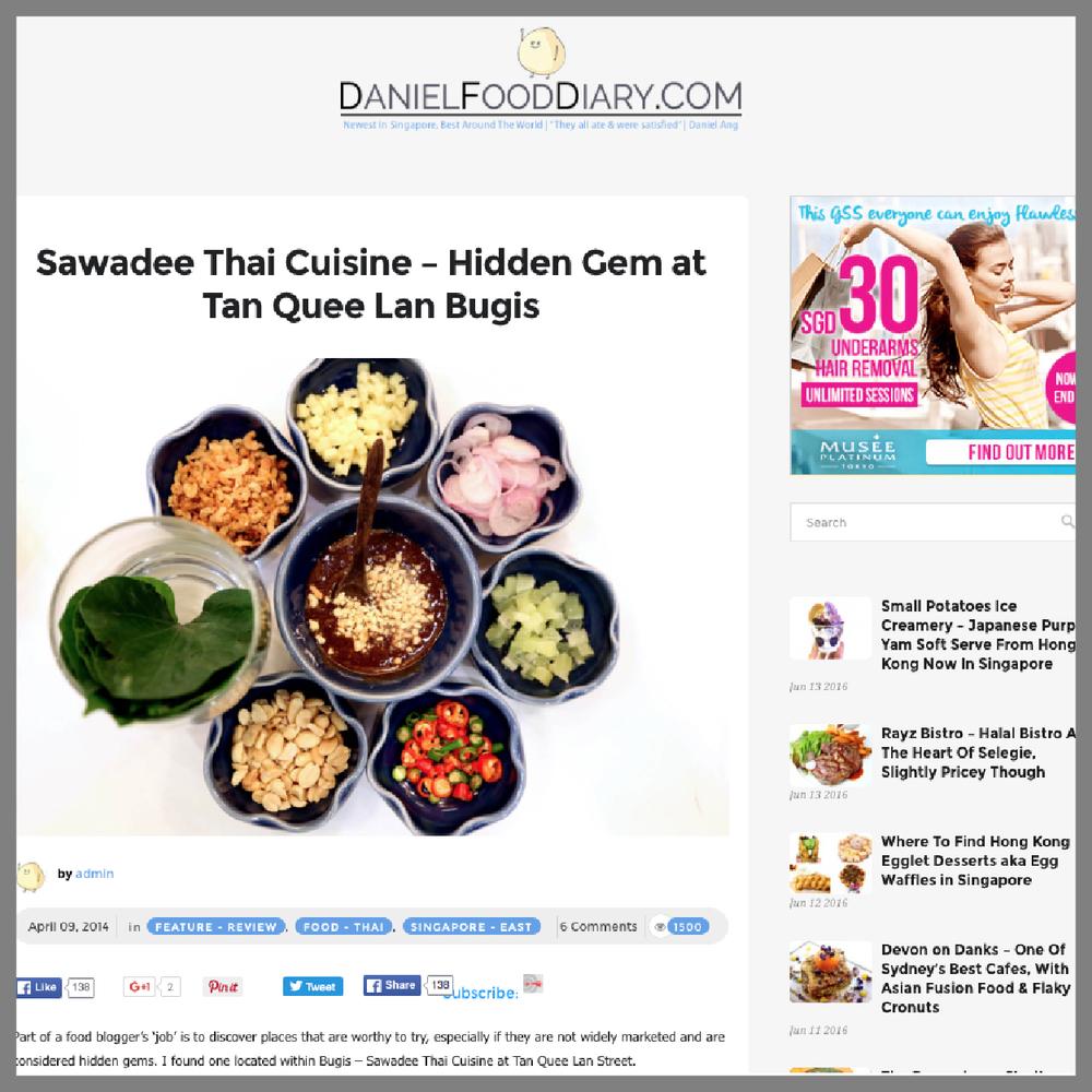 Daniel Food Diary, 4 April 2014