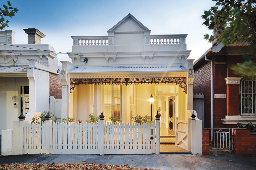 Lightbulb moment:  a makeover  by renocliq  both inside + out transformed this home in Albert Park, enabling it to smash the suburb's record price for homes of a similar size