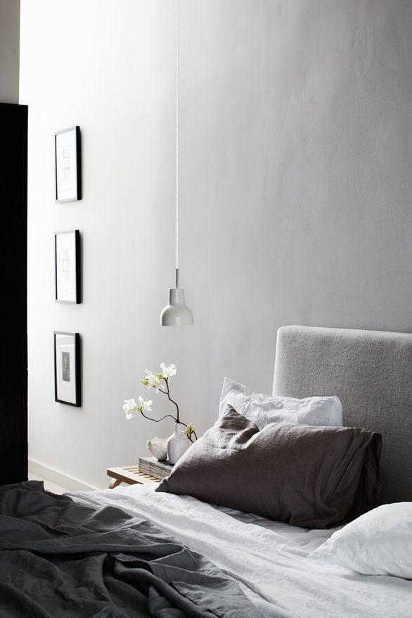 Fresh neutral linen to soften a bedroom