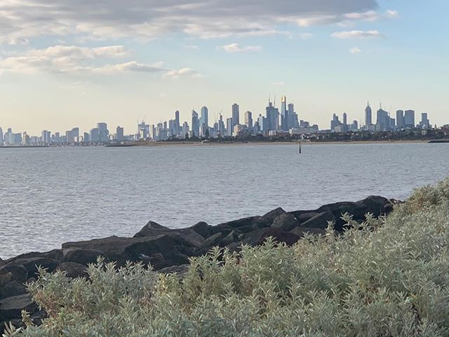 Gorgeous evening on the bay in Melbourne x