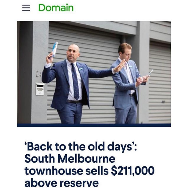 Bam! 👌 Again we as a team at Renocliq with Greg Hocking Holdsworth make the papers in Melbourne with a record result in South Melbourne! Love our work, unbelievable sales team and always a pleasure to work with! ✋🙏