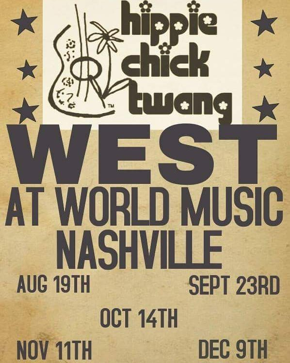 9:00 this SATURDAY. Free!  #nashvillemusic #nashville #hippiechicktwang #kimmcleanmusic #worldmusicnashvilletn #worldmusic #worldmusicnashville #freemusic #freeevent #beer #wine