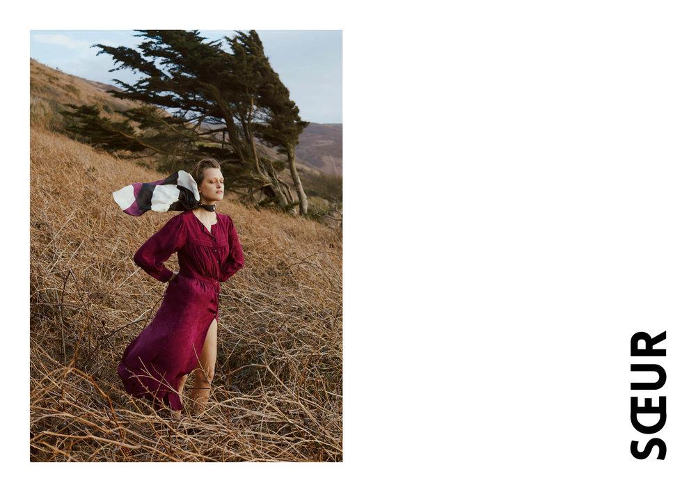 Grosse laine, jupe seventies, tricotée, esthétique, matière brute
