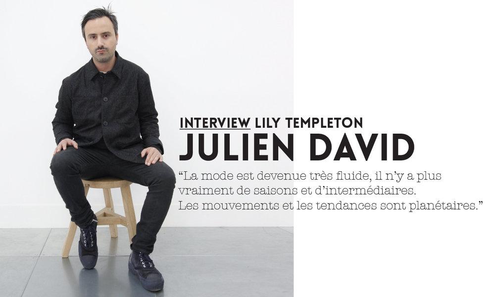 Mode homme interview Julien David vestiaire hiver 18