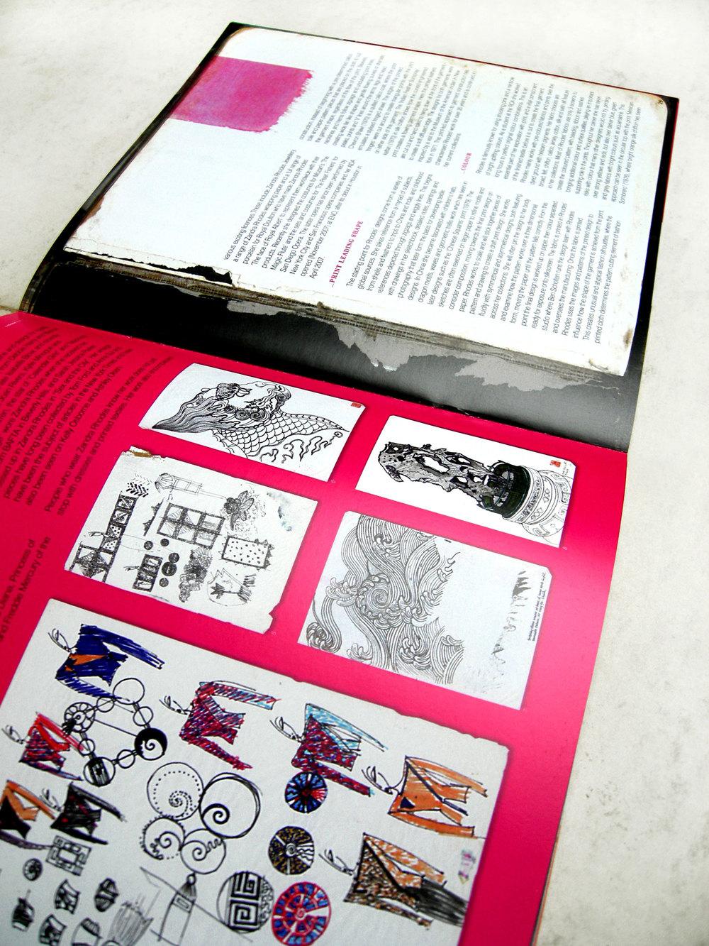 'ColourStory' Zandra Rhodes Presentation Spread