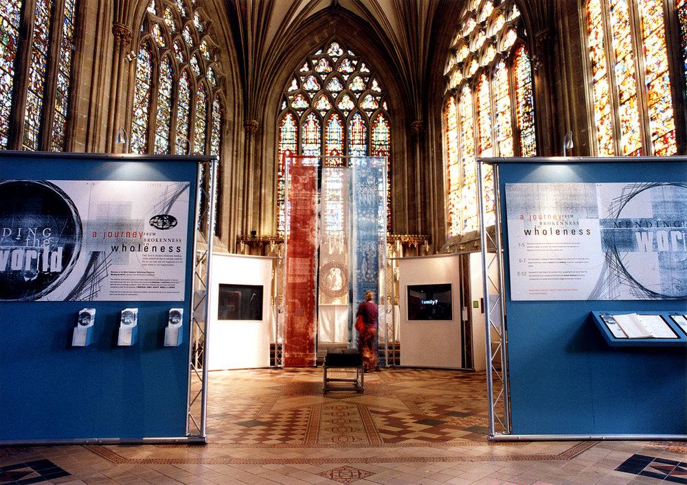 'Mending The World' Exhibition Entrance
