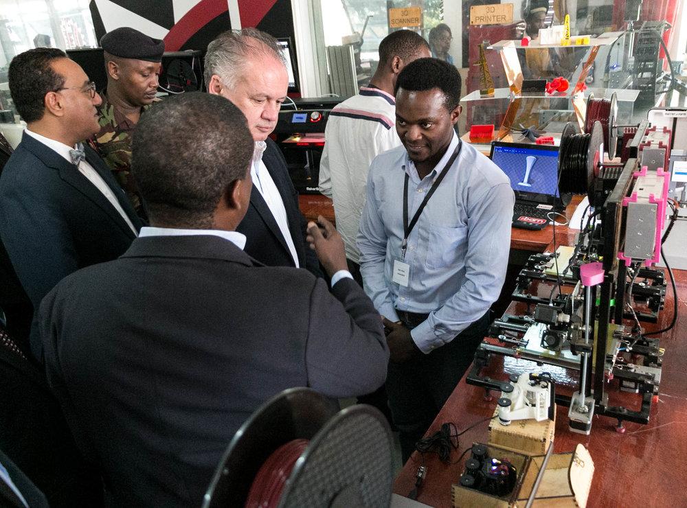President Andrej Kiska assessing Karl Heinz's Juakaliscope