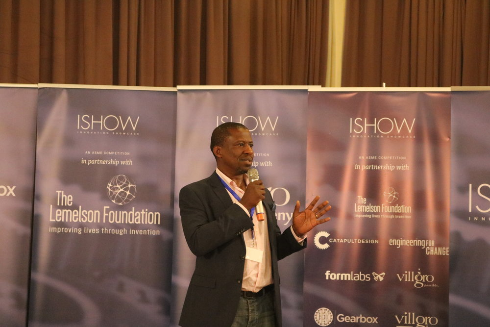 Dr. Kamau Gachigi, Executive Director Gearbox, speaking at the ISHOW event