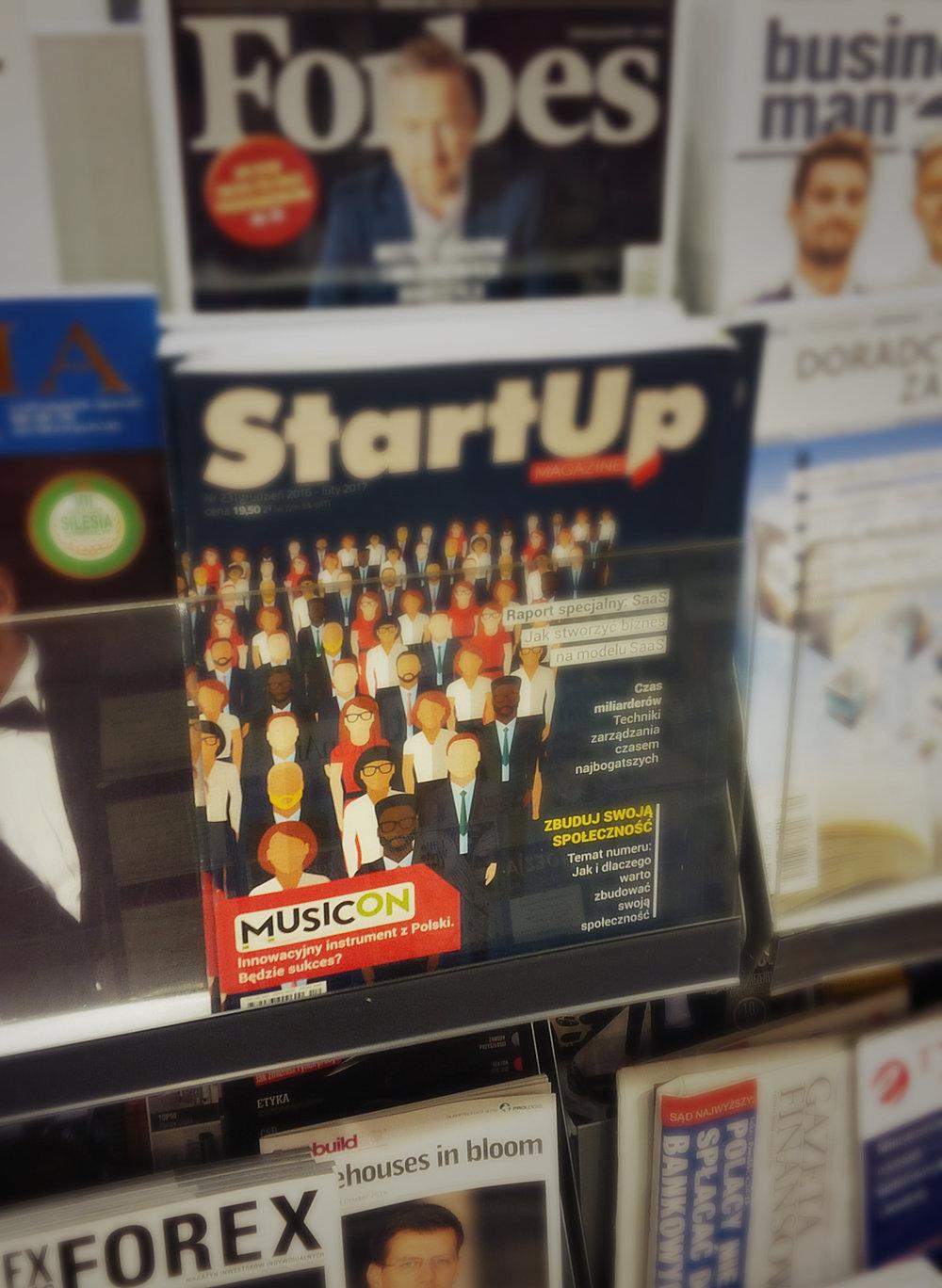 Musicon in Startup Magazine
