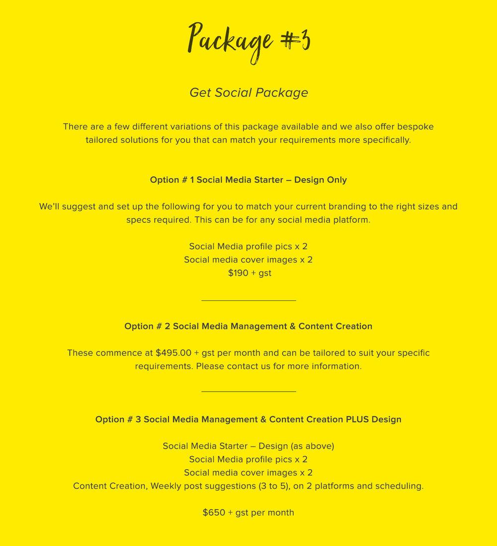 Package social media design branding