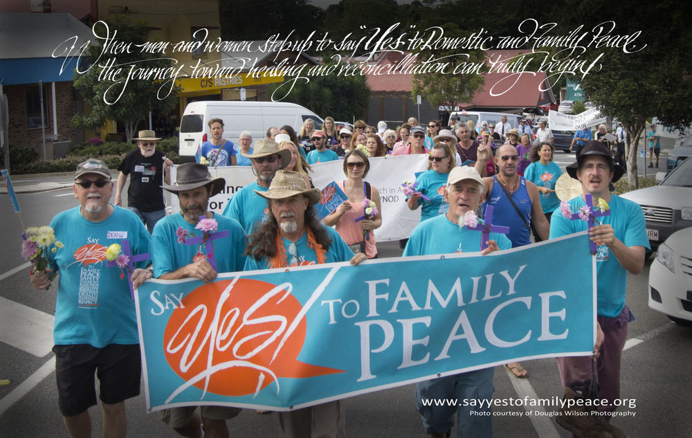 """""""When men and women step up to say 'Yes' to Domestic and Family Peace the journey toward healing and reconciliation can truly begin."""""""
