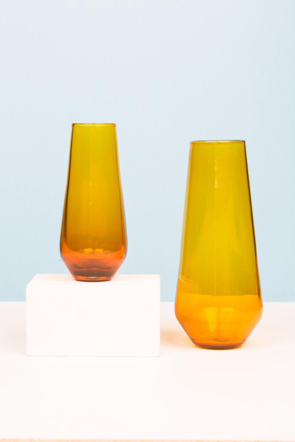 Medium and Small Cantic Vases in Brilliant Gold, 2015