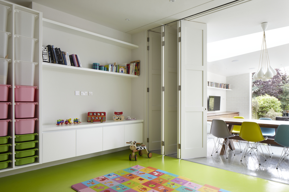 Playroom Shelving Unit and Storage - Photography - Jack Hobhouse
