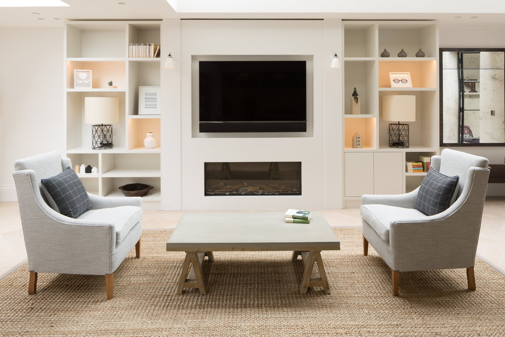 Living Room Feature Wall - Photography - Adam Scott