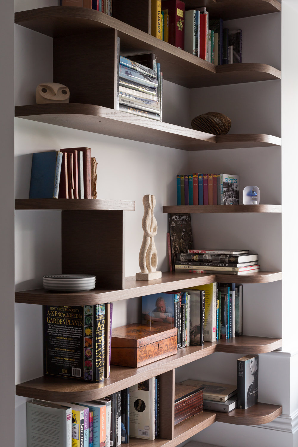 Custom shelving unit- Photography - Adam Scott