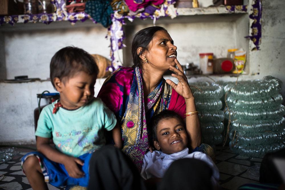 October, 2016.Raina village, Firozabad district, Uttar Pradesh, India.  30-year-old Anita Devi is a recent DMPA user.
