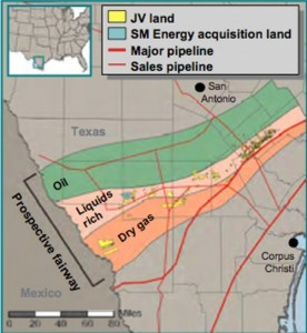 Talisman Energy - Statoil Eagle Ford Shale Map