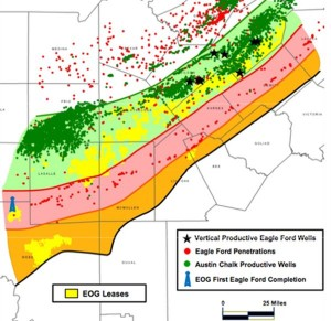 EOG Eagle Ford Shale Map