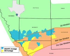 SM Energy Eagle Ford Acreage Map