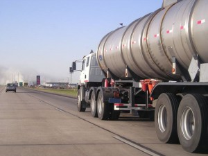 Oil Tanker on the Highway