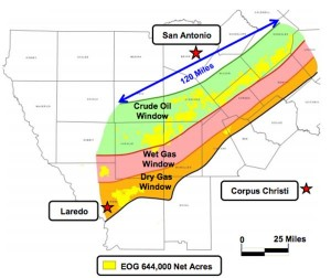 EOG Resources South Texas Eagle Ford Map 2012