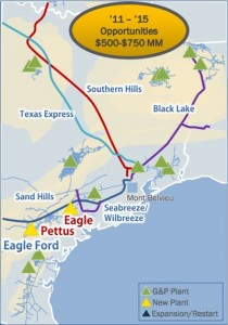 DCP Midstream's Eagle Ford System Map