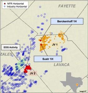 NFR Energy Eagle Ford Acreage Map