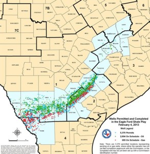 Eagle Ford Shale Well Map February 2013