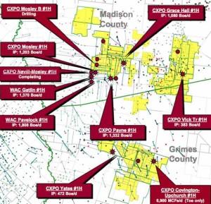 Crimson Woodbine Acreage Map