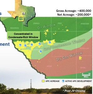 Anadarko - KNOC Eagle Ford Map 2011