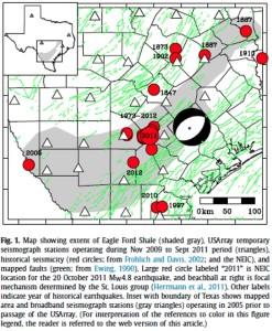 Eagle Ford Earthquake Map