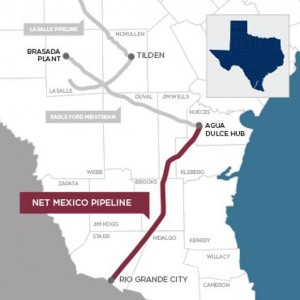 NET Midstream - Mexico Pipeline Map