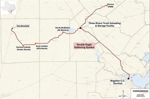 Double Eagle Pipeline Eagle Ford System Map