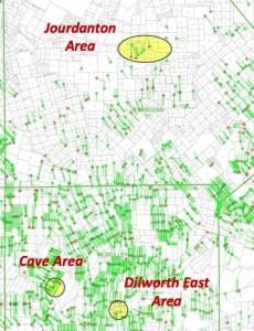 Abraxas Eagle Ford Acreage Map