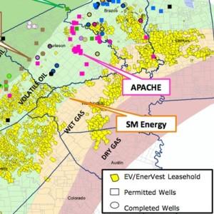 EVEP/EnerVest Eagle Ford Acreage Map