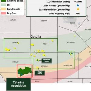 Sanchez Energy Eagle Ford Acreage Map