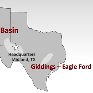Clayton Williams Eagle Ford Operations Map