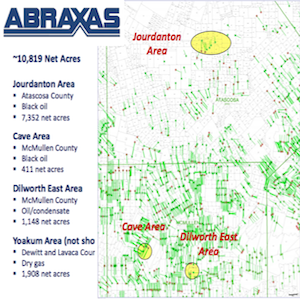 Abraxas' Eagle Ford Properties 2014