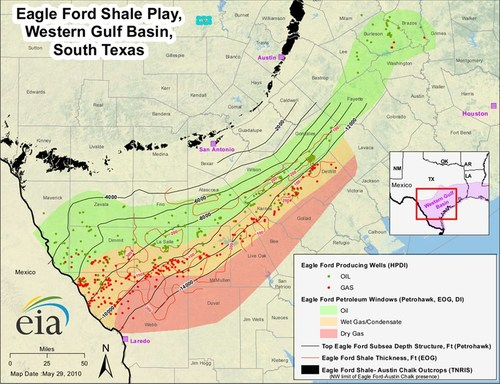 Eagle Ford Shale Maps — Eagle Ford Shale Play
