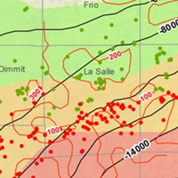 La Salle County Eagle Ford Shale Map